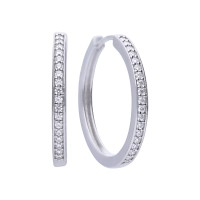 Classical creole silver with white Diamonfire zirconia